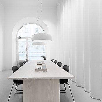 White shade, illuminated