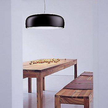 Matte Black shade, illuminated