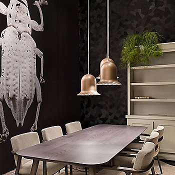 Lolita Pendant with Zio Dining Table and Zio Dining Chair