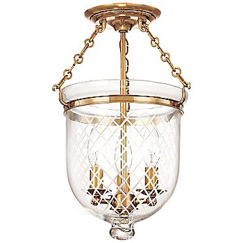 Shown in Aged Brass finish, Small size, Diamond Cut pattern