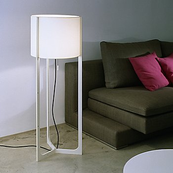Shown in White with White shade, Ivory finish