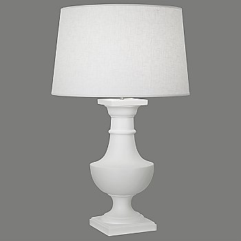Matte White with White Brussels Linen shade finish