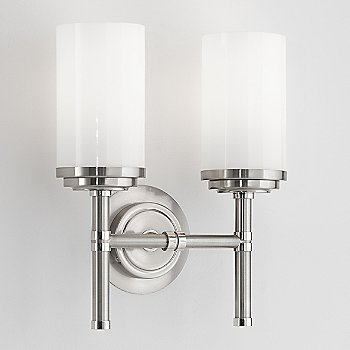 Shown in Brushed Nickel with Polished Nickel