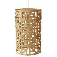 Wood Cylinder Pendant Lights