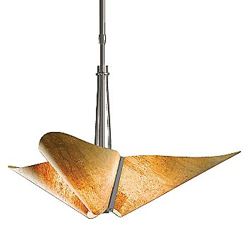 Shown in Burnished Steel finish with Spun Amber shade color
