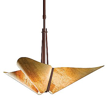 Shown in Mahogany finish with Spun Amber shade color