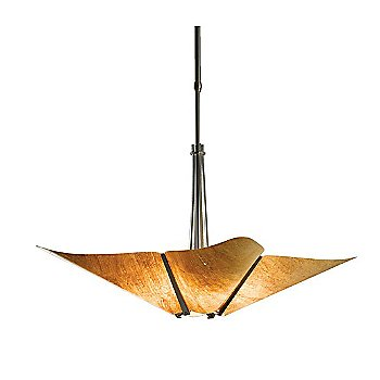 Shown in Burnished Steel finish with Cork Shade color