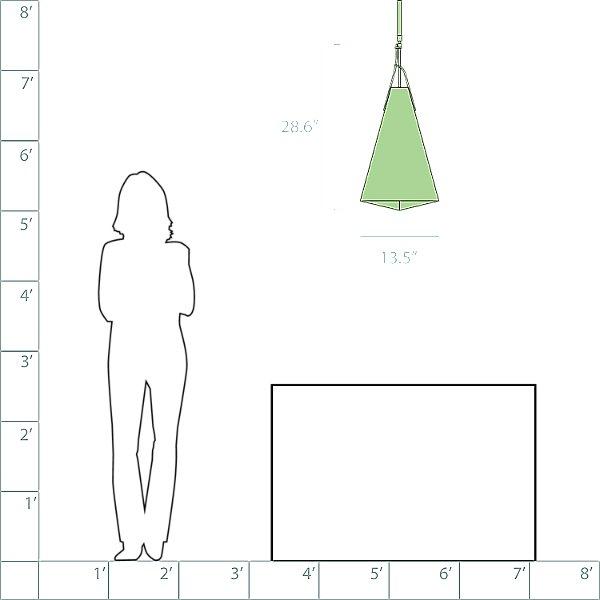 Mobius Tall Adjustable Pendant Light