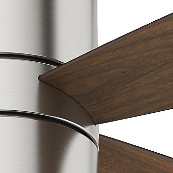 Brushed Nickel finish with Walnut blades