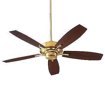 Aged Brass Fan Body with Aged Brass and Walnut Blade finish
