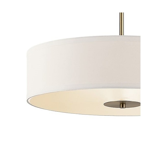 Convertible Drum Pendant / Semi-Flush Mount Ceiling Light