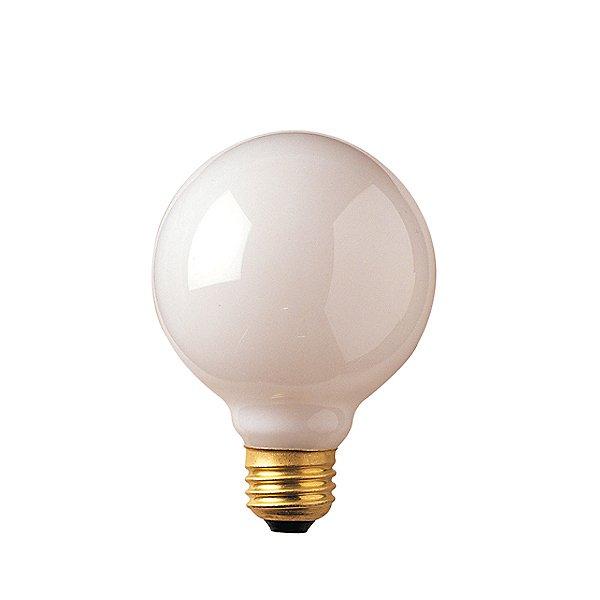 25W 120V G25 E26 White Bulb