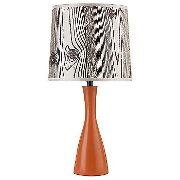 Faux Bois Light shade / Carrot base