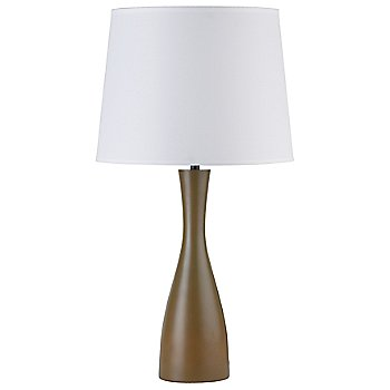 Shown in White Linen shade, Olive base
