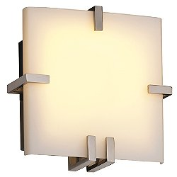 Fusion Clips Square Wall Sconce