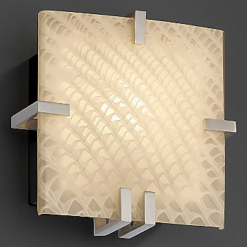 Weave shade / Brushed Nickel finish