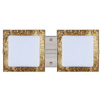 Shown in Opal with Gold Foil shade, Satin Nickel finish