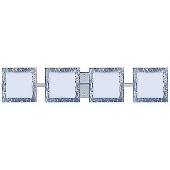 Shown in Opal with Silver Foil Shade, Chrome finish, 4 Lights