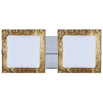 Shown in Opal with Gold Foil Shade, Chrome finish, 2 Lights