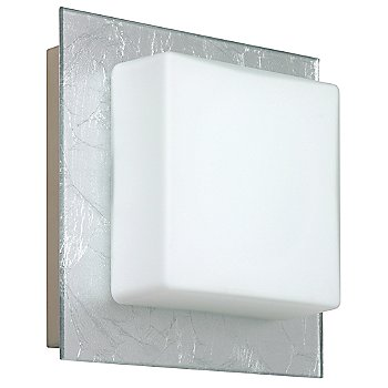 Shown in Opal with Silver Foil shade, Satin Nickel finish