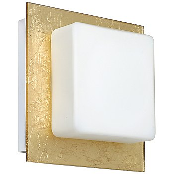 Shown in Opal with Gold Foil Shade, Chrome finish