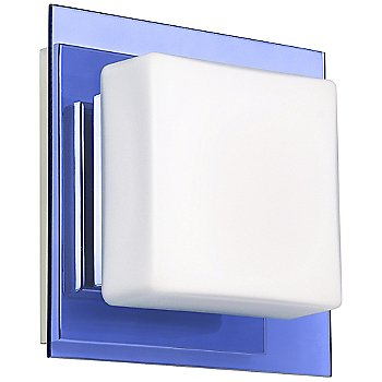 Shown in Opal with Blue Shade, Chrome finish