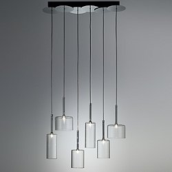Spillray 6 Light Linear Pendant Light