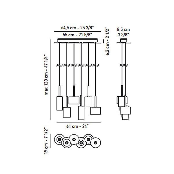 Spillray 6 Light Linear Pendant Light