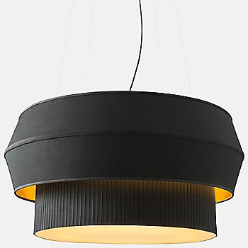 Shown lit in Black with Gold finish