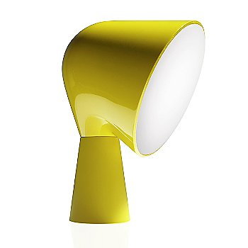 Yellow color, angled side view
