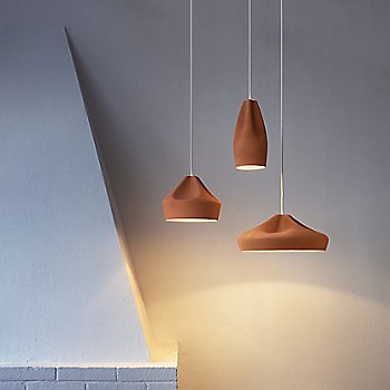 Terracotta with White shade