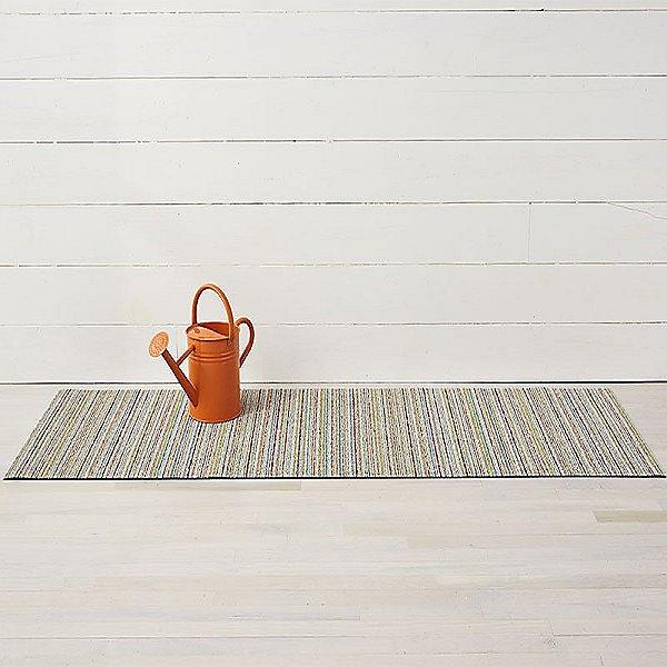 Mixed Skinny Stripe Shag Indoor/Outdoor Mat