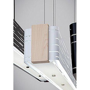 White finish / Maple Trim / Detail view