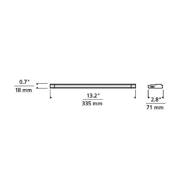Unilume LED Slimline 13 Inch Undercabinet Light