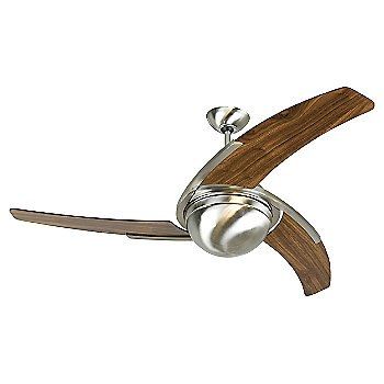Shown with Stainless Steel finish, Walnut blades, light cap