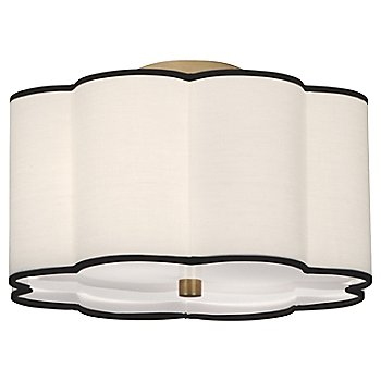 Shown in Aged Brass with Fondine shade