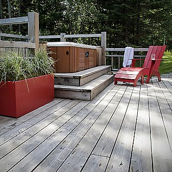 Apple Red, Flat Seat Back (ottoman & planter sold separately)