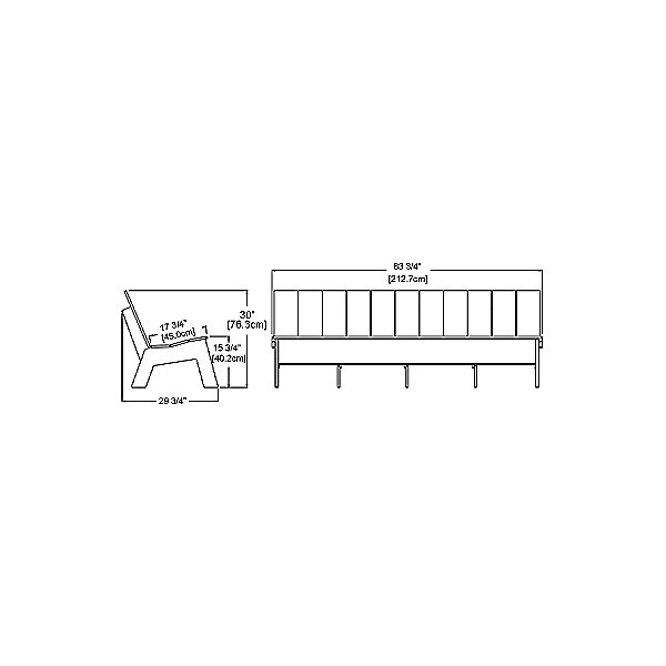 Picket Low Back Bench