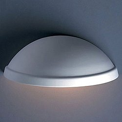 Rimmed Quarter Sphere Outdoor Wall Sconce