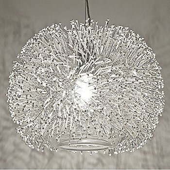 Shown in Nickel Silver with White shade, Large size
