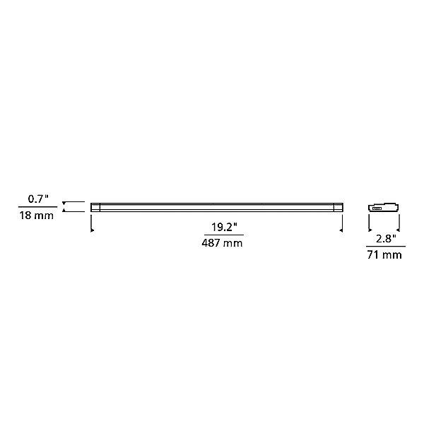 Unilume LED Slimline 19 Inch Undercabinet Light
