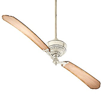 Persian White with Distressed Weathered  Fan Body and Blade finish