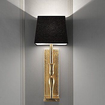 Shown in Gold Leaf Finish, Black Shade