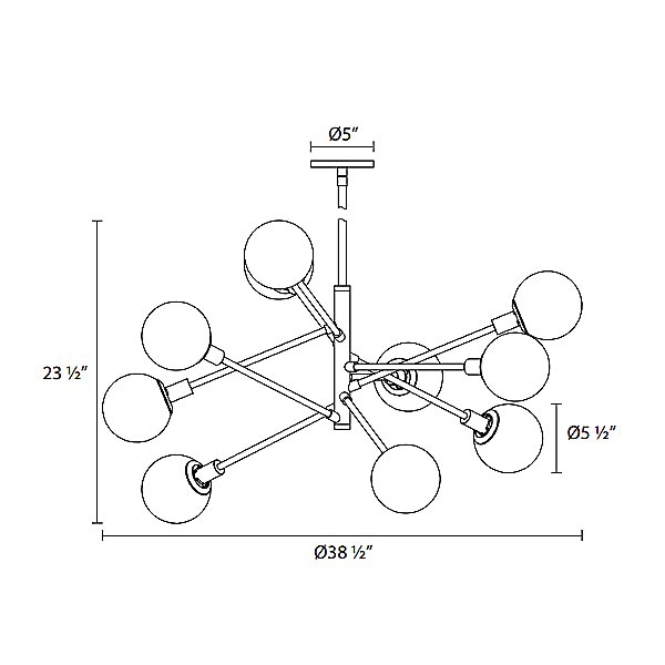 Orb 10-Light Pendant Light