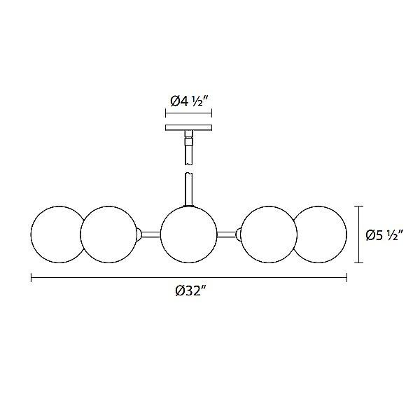 Orb 10-Light Radial Pendant Light