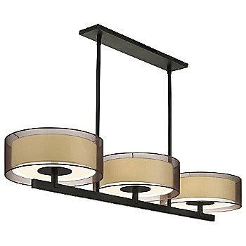 Shown in Black Brass with Bronze shade