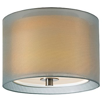 Shown in Satin Nickel with Silver shade, Small