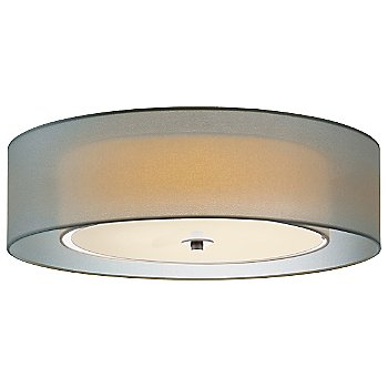 Shown in Satin Nickel with Silver shade, Large