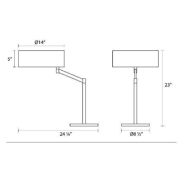 Perch Swing Arm Table Lamp