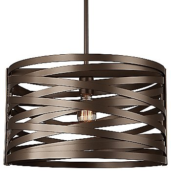 None, Exposed Lamping / Flat Bronze finish / 18 inch